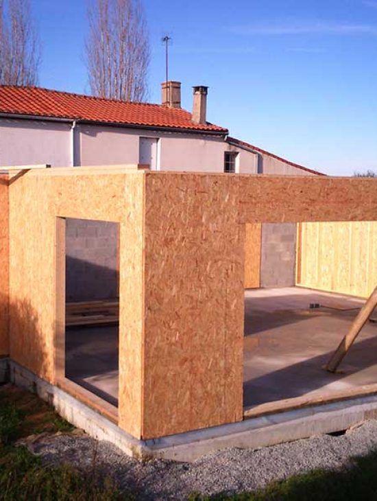 Construction Maison Mixte avec bardage