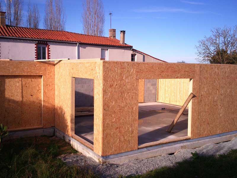 construction maison bardage bois : les murs