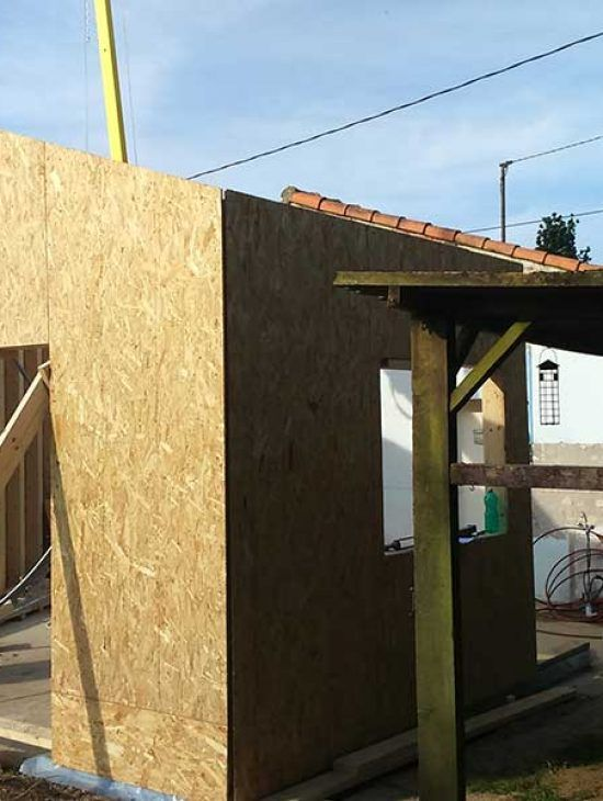 extension maison 1 construction mixte bois b ton. Black Bedroom Furniture Sets. Home Design Ideas