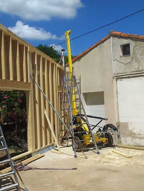 Extension maison 1 construction mixte bois b ton for Extension maison beton