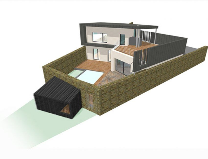Maison passive avec aBCd architecture