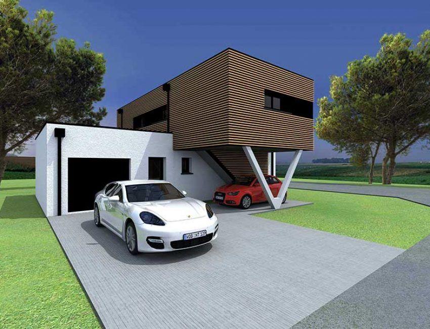 Projet De Maison N 2 Construction Mixte Bois B Ton