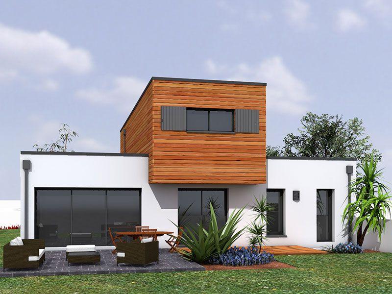 maison bois beton maison en bois with maison bois beton amazing maison bois toulouse maisons l. Black Bedroom Furniture Sets. Home Design Ideas