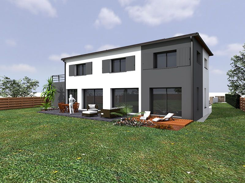 Construction d 39 une maison moderne en vend e for Construction maison en bois vendee