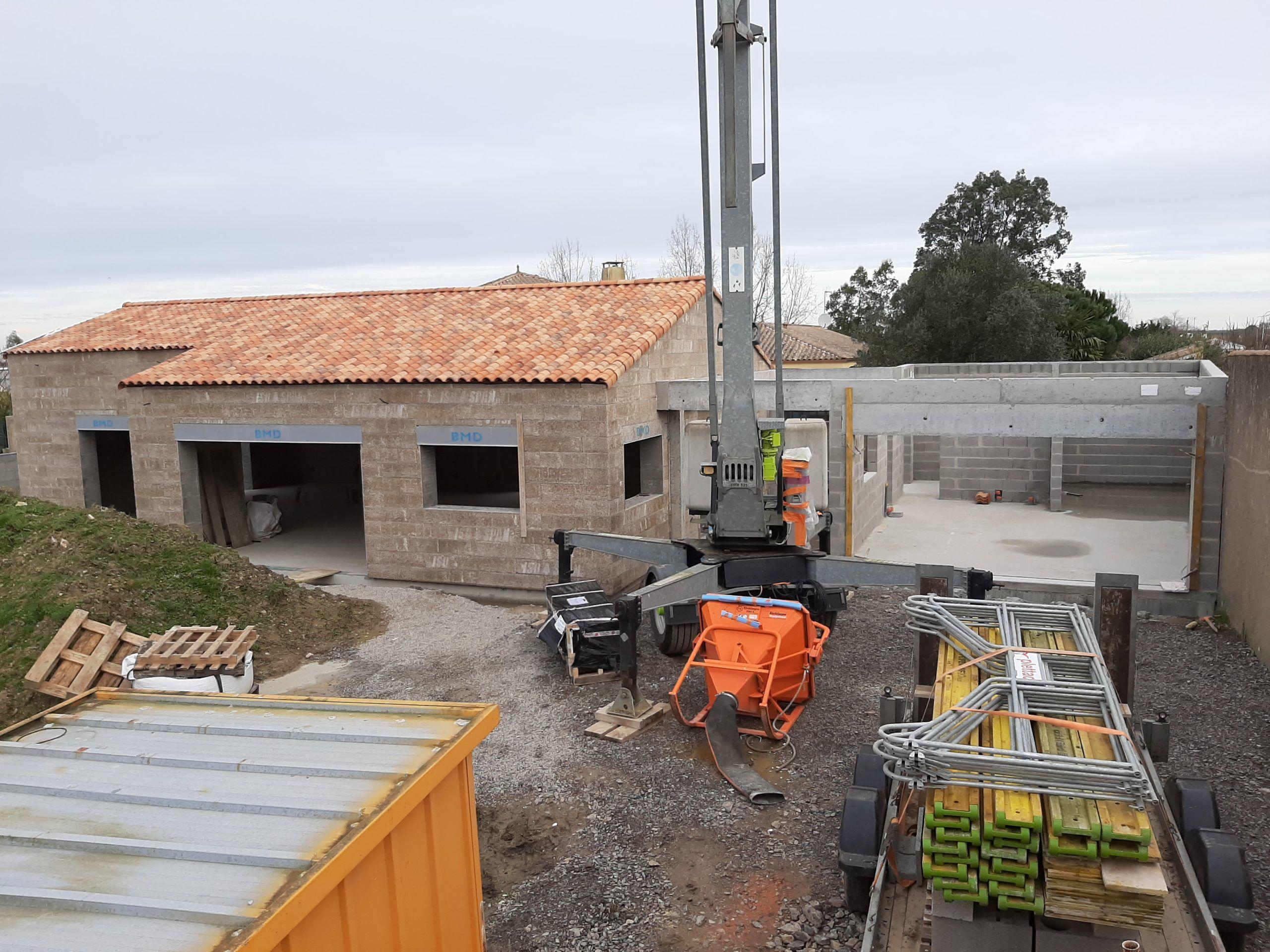 Maison IsoSpan Olonne : charpente et toiture